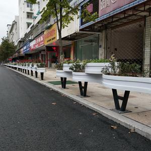 安徽黄山pvc花箱護欄工程