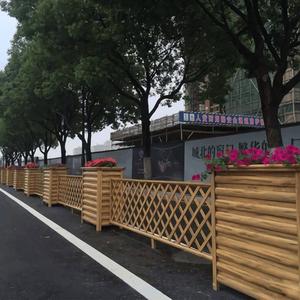 山西吕梁鋁合金花箱護欄工程