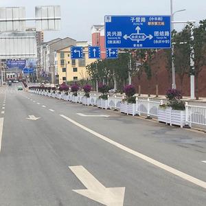 贵州余庆pvc花箱護欄工程